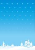 Landschaft der frohen Weihnachten oder des neuen Jahres Lizenzfreies Stockbild