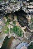 Landschaft der Gebirgshöhle Stockbild