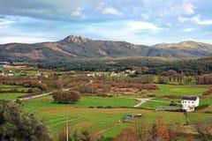 Landschaft der grünen Hügel in Galizien, Spanien lizenzfreies stockfoto