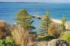 Landschaft der Granit-Insel, Siegers-Hafen, Südaustralien, Australien stockbilder