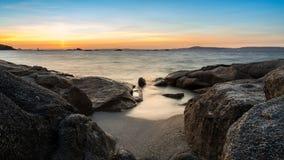 Landschaft der Insel von Arousa in Galizien stockfoto
