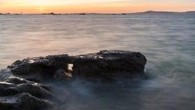 Landschaft der Insel von Arousa in Galizien stockbilder