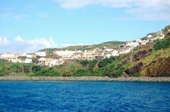 Landschaft der Insel von Corvo Azoren, Portugal Lizenzfreies Stockfoto