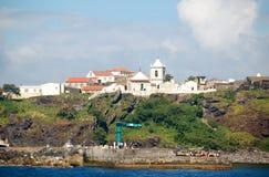 Landschaft der Insel von Corvo Azoren, Portugal Lizenzfreie Stockfotografie