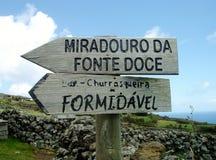 Landschaft der Insel von Corvo Azoren, Portugal Stockbild