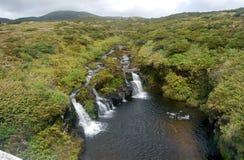 Landschaft der Insel von Flores Azoren, Portugal Lizenzfreie Stockfotografie