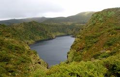 Landschaft der Insel von Flores Azoren, Portugal Stockbild