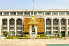 Landschaft der königlichen Krematoriums-Replik an der Bangkok-Großstadtbewohner-Verwaltung stockbilder