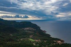 Landschaft der Küste von Mallorca lizenzfreies stockfoto
