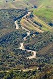 Landschaft der kurvenreichen Straße von Hawkes Bucht Neuseeland Lizenzfreie Stockfotografie