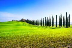 Landschaft der Landschaft in Val-d'Orcia Provinz Toskana, Italien Stockfoto