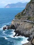 Landschaft der Liebesstraße in Cinque Terre, Italien Lizenzfreies Stockbild