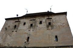 Landschaft in der mittelalterlichen Stadt Sighisoara Stockbilder
