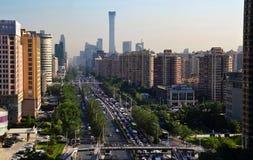 Landschaft der modernen Stadt, Peking, China stockfotos