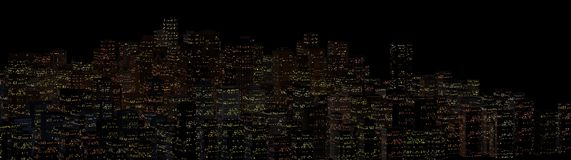 Landschaft der Nachtstadt stockfoto