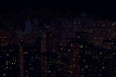 Landschaft der Nachtstadt stockbilder