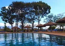 Landschaft der Natur umgebend durch das Pool lizenzfreies stockbild