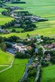 Landschaft der Niederlande, lebend nahe einem Fluss Stockfoto