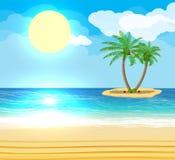 Landschaft der Palme auf Strand Stockfotografie