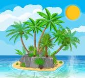 Landschaft der Palme auf Strand Lizenzfreies Stockbild