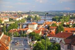 Landschaft der Prag-alten Stadt Stockfoto