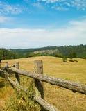 Landschaft der Ranch in Wiezyca-Region, Kashubia, Polen stockbild