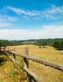 Landschaft der Ranch in Wiezyca-Region, Kashubia, Polen stockfotos