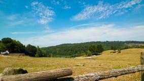 Landschaft der Ranch in Wiezyca-Region, Kashubia, Polen stockfoto