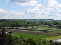 Landschaft der Ruinen von Staatz Stockbilder