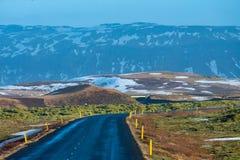 Landschaft der schönen Ansicht und des Winters der Landschaft, Island Lizenzfreie Stockfotos