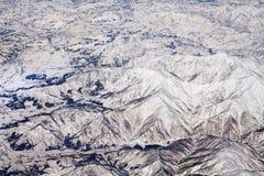 Landschaft der Schneeberge in Japan nahe Tokyo Stockbild