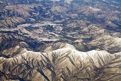 Landschaft der Schneeberge in Japan nahe Tokyo Stockfotos