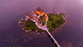 Landschaft der Scotish-Hochländer und der Insel von Skye stockfotografie