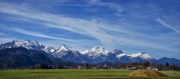 Landschaft der Stadt von Fussen Schwarzwald Deutschland stockbild