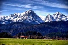 Landschaft der Stadt von Fussen Schwarzwald Deutschland lizenzfreie stockfotografie