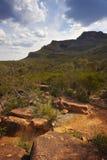 Landschaft der steilen Böschung Stockbild