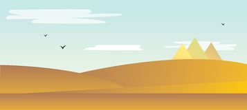 Landschaft der Wüste lizenzfreie abbildung