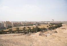 Landschaft der Wüste und der Felsen nahe Hurghada, Ägypten stockbild