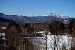 Landschaft der weißen Berge, Nord-Conway NH Stockbilder