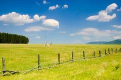 Landschaft des Ackerlands Stockfotografie