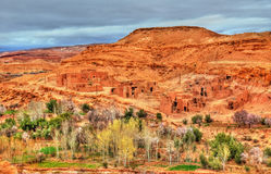 Landschaft des Asif Ounila-Tales in den hohen Atlas-Bergen, Marokko Stockfoto
