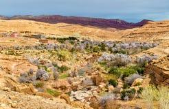 Landschaft des Asif Ounila-Tales in den hohen Atlas-Bergen, Marokko Lizenzfreie Stockfotos