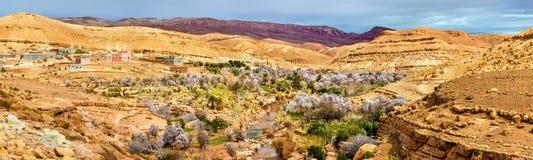Landschaft des Asif Ounila-Tales in den hohen Atlas-Bergen, Marokko Lizenzfreie Stockbilder