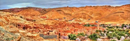 Landschaft des Asif Ounila-Tales in den hohen Atlas-Bergen, Marokko Stockbild