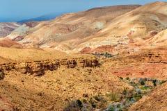 Landschaft des Asif Ounila-Tales in den hohen Atlas-Bergen, Marokko Lizenzfreies Stockfoto