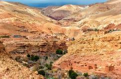 Landschaft des Asif Ounila-Tales in den hohen Atlas-Bergen, Marokko Stockfotografie