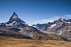 Landschaft des Berges Matterhorn in den Alpen switzerland Lizenzfreie Stockfotos