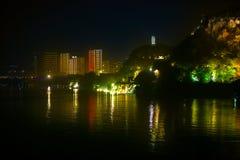 Landschaft des chinesischen Klassikers nachts Stockfoto
