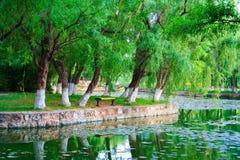 Landschaft des chinesischen Parks. Kunming-Stadt. China. Stockfotografie
