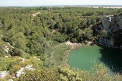 Landschaft des Clape, Languedoc Stockfotografie